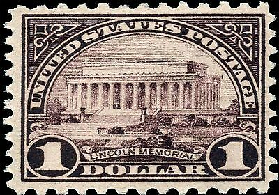 Memories Photo Magnet - US Postage Stamp PHOTO MAGNET Reproduction Lincoln Memorial 1922 issue $1
