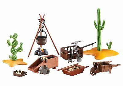 Playmobil Western accesorios campamento minero buscadores oro Oeste ref 6479