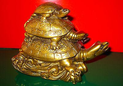 Schildkröten Mutti und Baby Feng Shui Schildkröten  Neu Glücksbringer