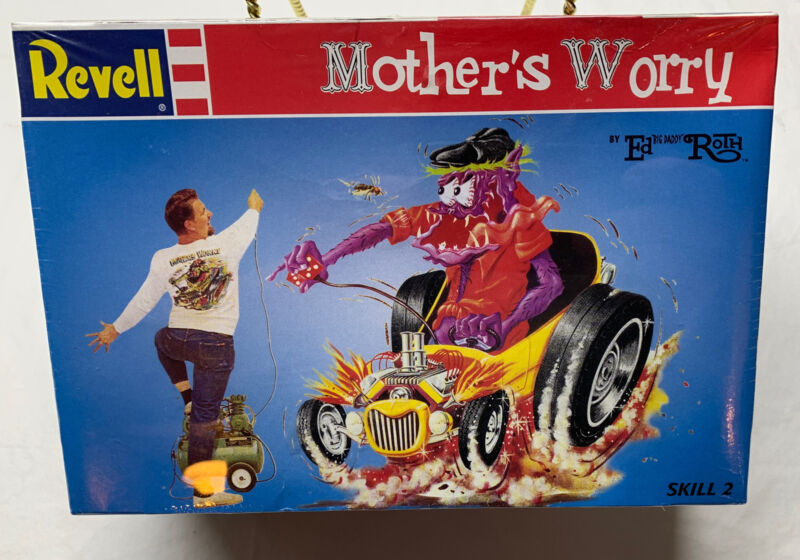 Revell Ed Big Daddy Roth Mothers Worry Hot Rod Monster Model Kit 1996 Rat Fink