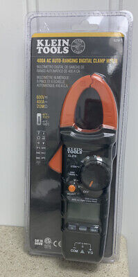 Klein Tools 400amp Ac Auto-ranging Digital Clamp Meter Cl210 New