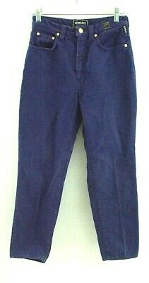 Vintage Versace Jeans Couture Italy Womens 26 x 28 Vibrant Blue Denim Blue Jeans