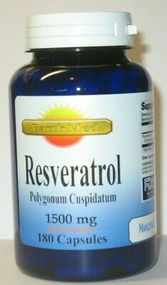 Resveratrol 180 Capsules 1500MG / Serving  Polygonum Cuspidatum  Anti Aging