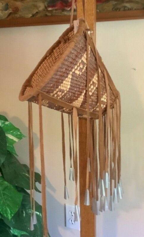 Vintage Native American Apache Burden Basket 1989
