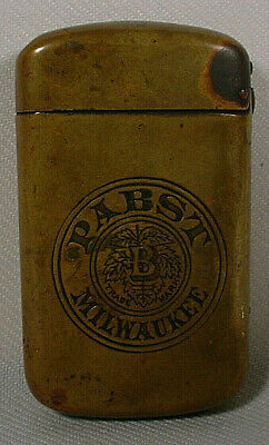 VINTAGE PABST BREWING COMPANY ADVERTISING BRASS MATCH CASE - ORIGINAL
