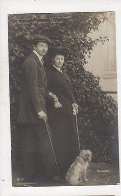 Prinz August Wilhelm Von Preussen & Alexandra Victoria RP Postcard Germany 043b