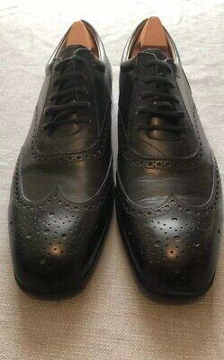 J M Weston Paris Mens Black Brouge Shoe 10 D RRP £695