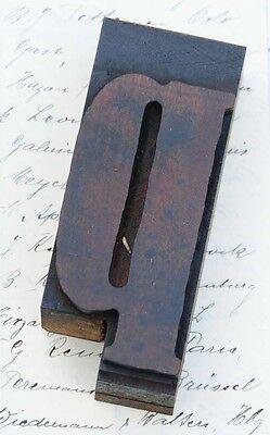Letter P Rare Fancy Wood Type Letterpress Printing Block Woodtype Font Antique