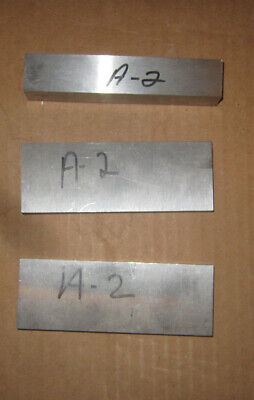 A-2 Tool Steel Bar Stock 3 Pieces 716 12 34 Thick 5 Inches Long