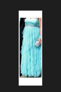 Sparkly Tiffany Blue Prom Dress
