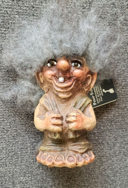 Fosse Troll With Tag # 163 Vintage Norway