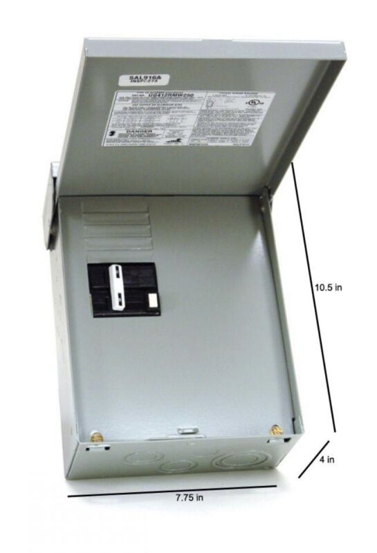 NEW!! Spa Panel 50 Amp 240-Volt 240-Watt Non-Fuse Load Center Metallic