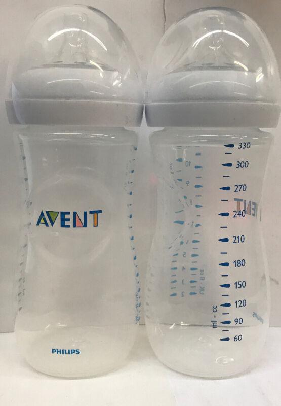 Philips Avent Natural Baby Bottles 11oz 2 Pack- SCF016/27- USED