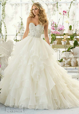 White Ivory Wedding Dress Bridal Gown Size 4 6 8 10 12 14 16 18 20