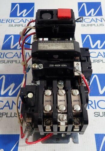GE General Electric CR306B1**ACLA 600VAC 18A NEMA Size 1 Motor Starter 230-460V