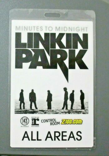 Linkin Park backstage pass Laminated All Areas Z-100 !