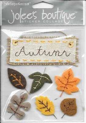 Ek Jolees Boutique Felt - EK SUCCESS Jolee's Boutique Autumn Leaves Felt Embellishments Fall Seasons