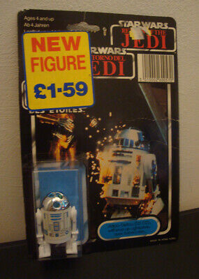 Vintage Star Wars Tri Logo Last 17 R2-D2 Pop-Up Lightsabre Figure MOC (Recarded)