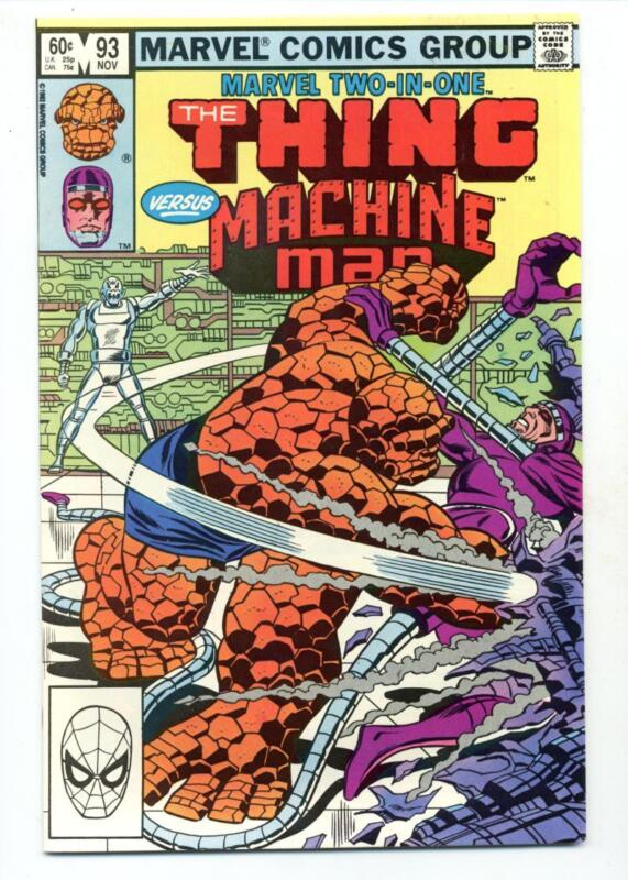 Marvel Two in One #93   The Thing and Machine Man
