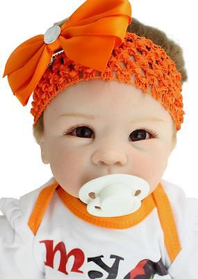 "22""Handmade Realistic Reborn Baby Newborn Lifelike Soft Vinyl silicone Girl Doll"