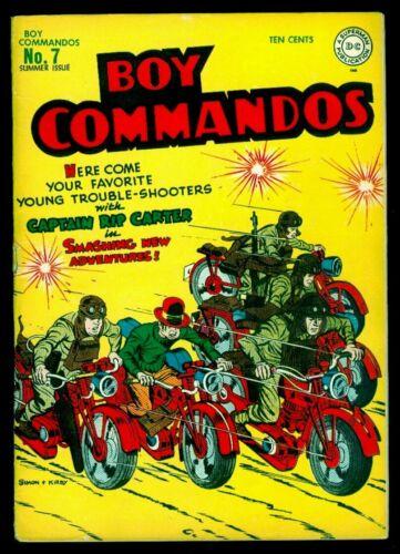 DC Comics BOY COMMANDOS #7 Simon And Kirby VG+ 4.5