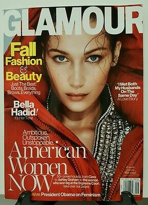 Glamour American Women Now Fashion Beauty Bella Hadid Sept 2016 FREE SHIPPING JB