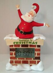 Large Hallmark 15 Santa Countdown to Christmas Digital Tabletop Clock NICE