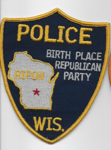 Vintage Ripon Police State Wisconsin Birthplace of Repub Party  OLD