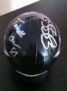Eagles Signed Autographed Mini Helmet
