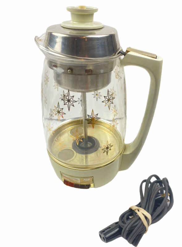 PROCTOR SILEX SCM 70101 Starburst Glass Coffee Percolator Lifelong