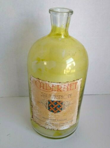 Vtg Empty Wine Bottle 750ml Cabernet Sauvignon  Redwood Valley Ukiah California