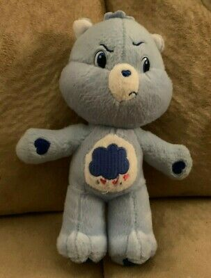 "Care Bears GRUMPY 7"" Plush Bear 2007 Blue Stuffed Animal Doll By NANCO , used for sale  Shipping to Canada"