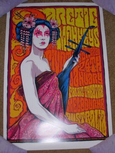 ARCTIC MONKEYS concert gig tour poster print MELBOURNE 1-24-09 2009 Ken Taylor