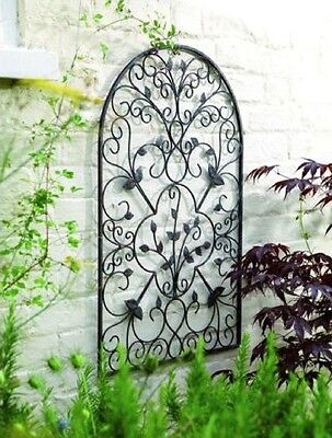 - Garden Trellis Wall Art Metal Arch Decor Rust Scrolled Antique Outdoor Patio