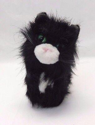 American Girl Doll Licorice Black White Cat Pet Green Eyes No Collar Plush Toy