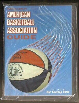 1970 71 Sporting News American Basketball Association Aba Guide   Ex Mt