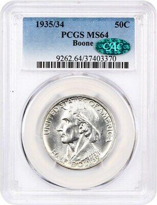 1935/34 Boone 50c PCGS/CAC MS64 - Silver Classic Commemorative