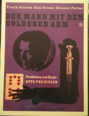 The Man with the Golden Arm German Mini Poster 1955 Sinatra