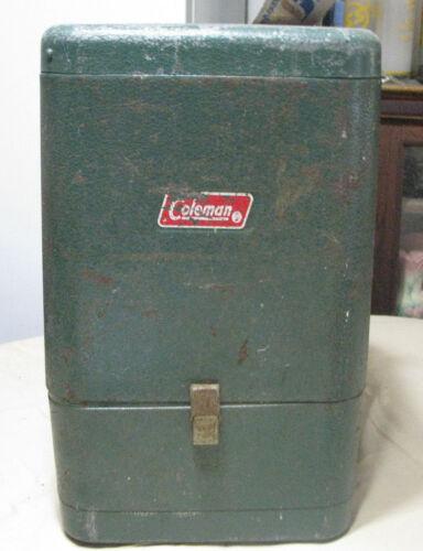 Vintage 1973 Coleman #228H Camping Lantern w/Metal Case - Used