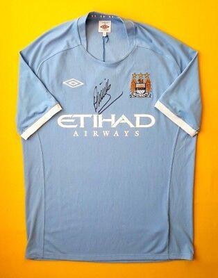69838e34b 4.9 5 Manchester City jersey XL autograph 2010 2011 home shirt Umbro soccer  ig93