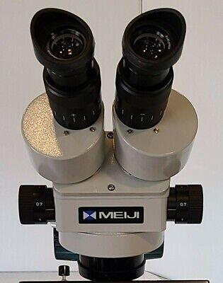 Meiji Techno Emz-5 Stereo Zoom Microscope 10x20x Eyepieces