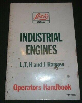 Lister Petter L T H J Range Engine Operator Operation Maintenance Manual Book