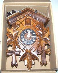 NIB New German Black Forest Cuckoo Clock Hand Carved Mechanical 11 FREE SHIP