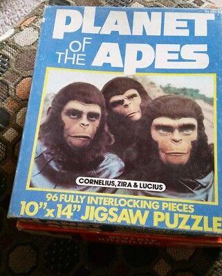 Planet of the Apes Vintage Jigsaw Puzzle Cornelius Zira Lucius 1967 Apjac + Box