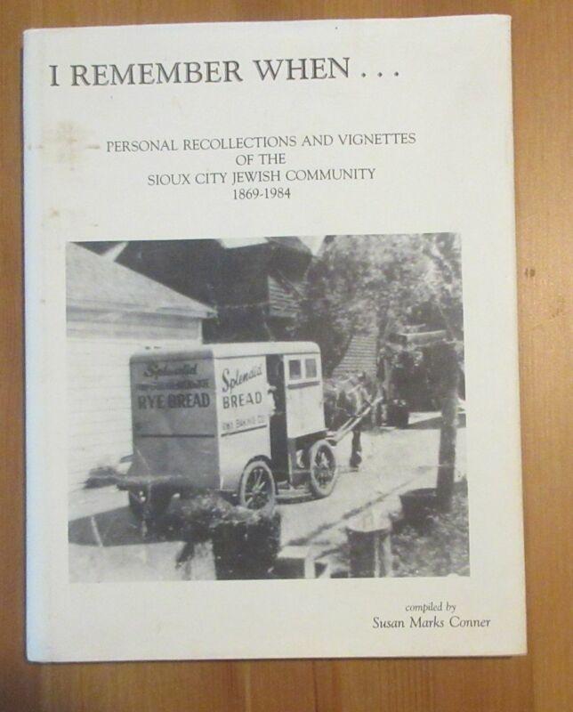 book JUDAICA IOWA SIOUX CITY JEWISH COMMUNITY HISTORY conner