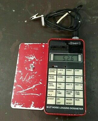 Quest Technologies M-27 Noise Logging Dosimeter With Microphone Tested