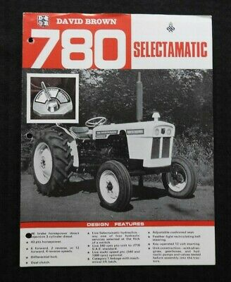 Genuine 1967 David Brown 780 Selectamatic Tractor Brochure Very Good Shape