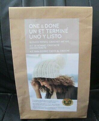 Potato Hook - Lion Brand One & Done Slouch Potato Crochet Hat Kit, Hook, Yarn & Pattern NEW