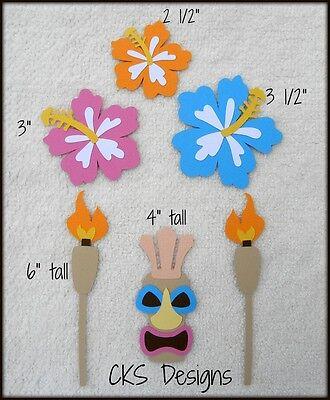 Die Cut Luau Tiki Hawaii Party Hibiscus Flowers Beach Scrapbook Paper Piecing - Hawaii Scrapbook Die Cut