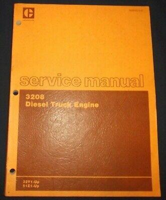 Cat Caterpillar 3208 Truck Engine Service Shop Repair Book Manual 32y 51z